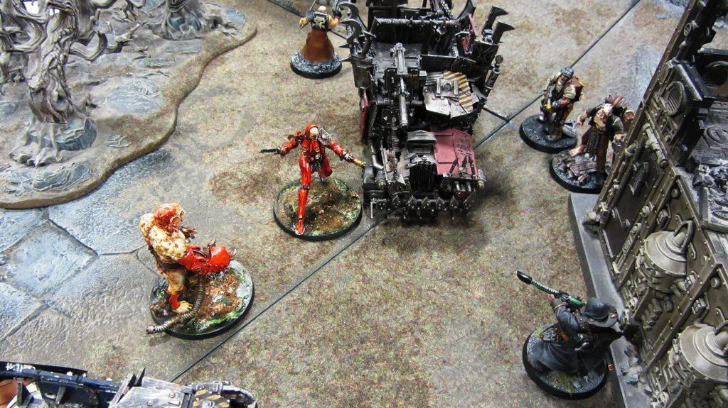 Korpik and Lucretia exchange gunfire
