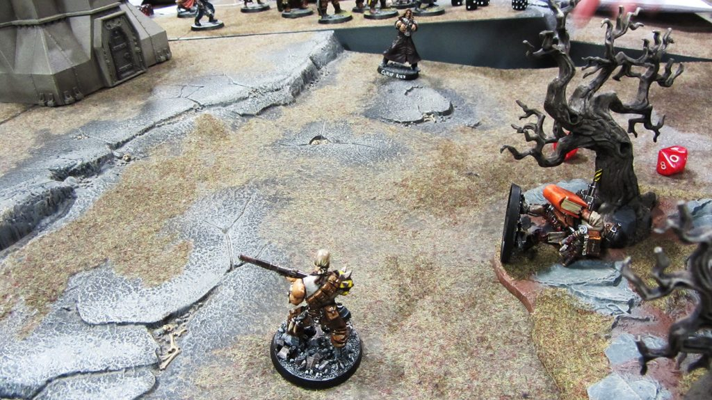 Korpik's men sneak out with the objective, only to be ambushed by the mad scribe himself!