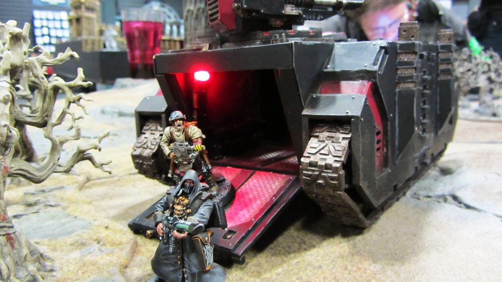 Korpik and Fetch roll into the Twicefold Man's lair with armoured support