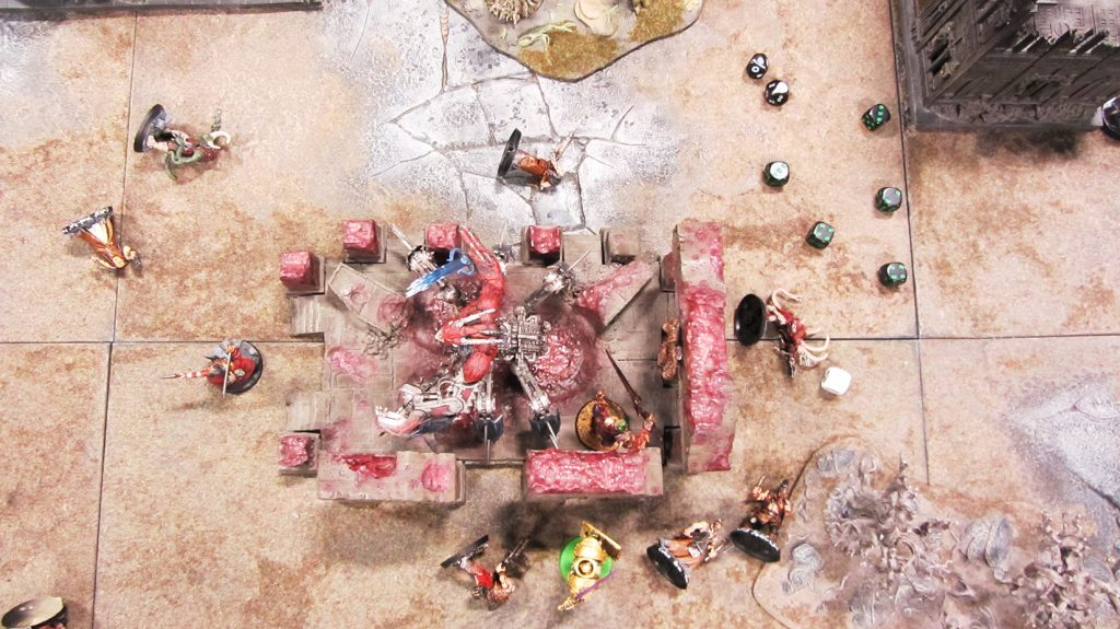 An aerial shot of the carnage