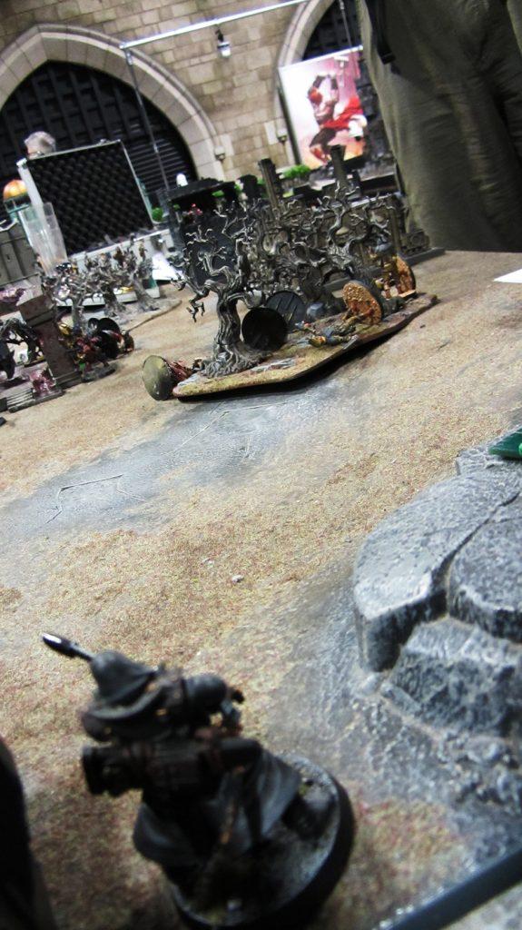 Korpik hoses the Guardsmen with splinter fire